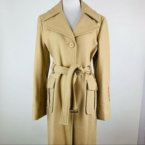 Kenneth Cole Reaction Wool Blend Tan Trench Coat